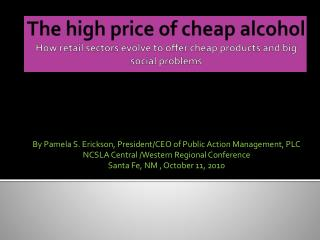 The high price of cheap alcohol How retail sectors evolve to offer cheap products and big social problems