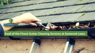 Avail of the Finest Gutter Cleaning Services at Somerset Lawn