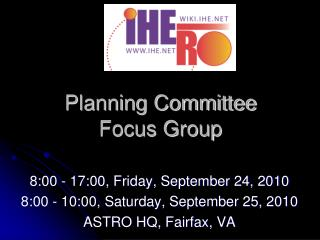 Planning Committee Focus Group