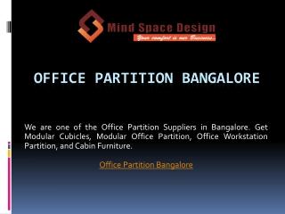 Office Partition Bangalore