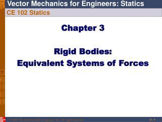 CE 102 Statics