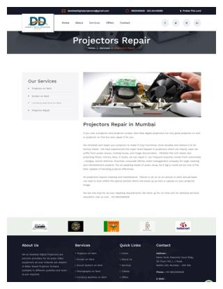 Projectors Repair in Mumbai | Desideal Digital Projectors