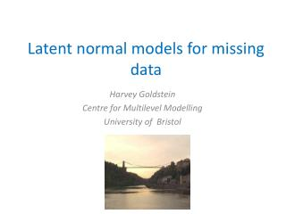 Latent normal models for missing data