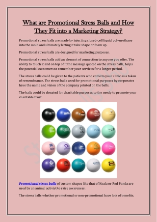 What are Promotional Stress Balls and How They Fit into a Marketing Strategy?