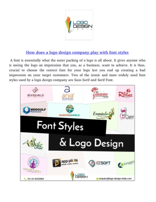 How does a logo design company play with font styles?
