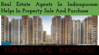Real Estate Agents In Indirapuram Helps In Property Sale And Purchase