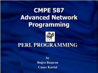 CMPE 587 Advanced Network Programming