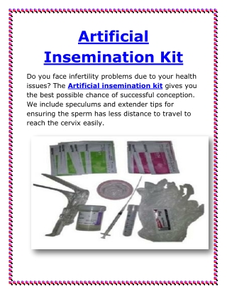 Artificial insemination kit