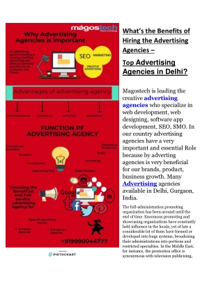 What's the Benefits of Hiring the Advertising Agencies