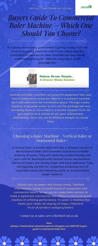 Buyers Guide To Commercial Baler Machine – Which One Should You Choose?