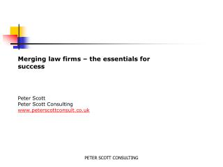 PETER SCOTT CONSULTING