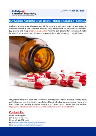 Buy Generic Antibiotic Drugs Online