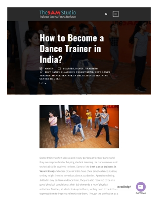 How to Become a Dance Trainer in India?