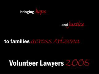 Volunteer Lawyers 2005
