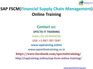 SAP FSCM ( Financial Supply Chain Management ) Online Training