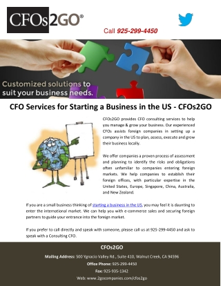 CFO Services for Starting a Business in the US - CFOs2GO
