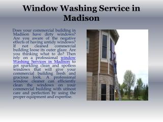 Window Washing Madison