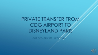 Private transfer from cdg to Disneyland service