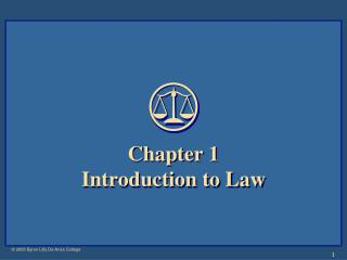 Chapter 1 Introduction to Law