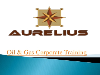 Oil and Gas corporate training