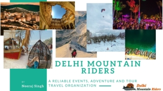 Book Upcoming Events, Trekking Tours and Workshops by Delhi Mountain Riders