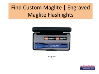 Find Custom Maglite | Engraved Maglite Flashlights
