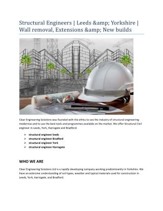 structural engineer Harrogate