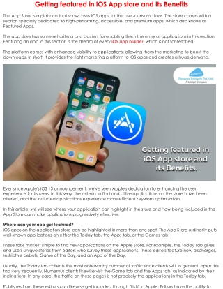 Getting featured in iOS App store and its Benefits