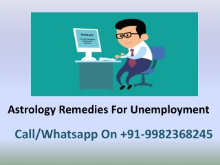 Astrology Remedies For Unemployment