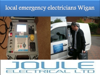 local emergency electricians Wigan