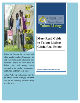 Must-Read Guide to Tulum Listings – Giada Real Estate
