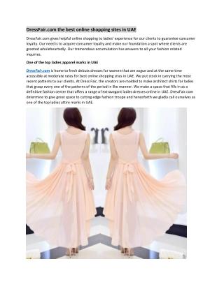 DressFair.com the best online shopping sites in UAE