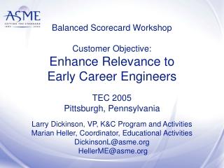 Balanced Scorecard Workshop