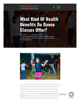 What Kind of Health Benefits Do Dance Classes Offer?