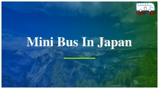 Mini Bus In Japan