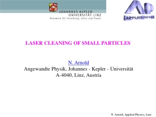 LASER CLEANING OF SMALL PARTICLES