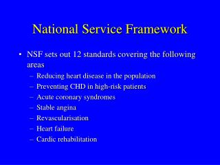 National Service Framework