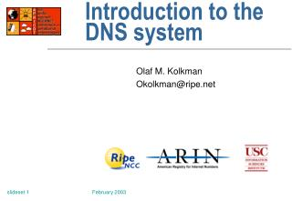 Introduction to the DNS system