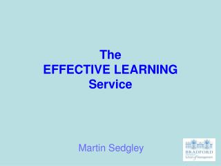The  EFFECTIVE LEARNING Service