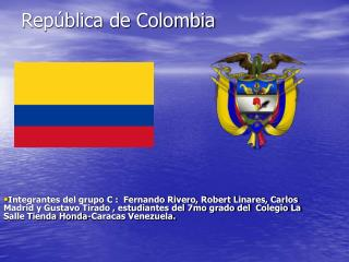 Rep blica de Colombia