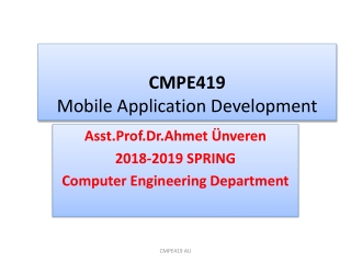 CMPE41 9 Mobile Application Development