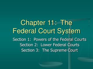 Chapter 11:  The Federal Court System