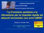 42  Congresso Nazionale SItI                Catania 27-30 Ott. 2006