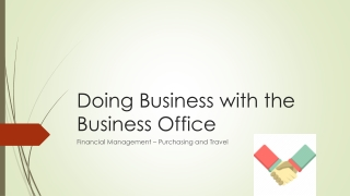 Doing Business with the Business Office