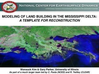 MODELING OF LAND BUILDING IN THE MISSISSIPPI DELTA: A TEMPLATE FOR RECONSTRUCTION