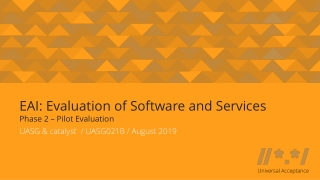 Software Evaluation and Criteria