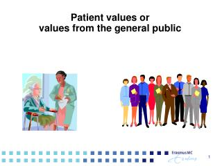 Patient values or  values from the general public