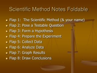 Scientific Method Notes Foldable