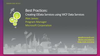 Best Practices:  Creating OData Services using WCF Data Services