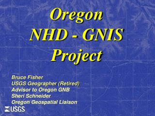 Oregon NHD  - GNIS  Project
